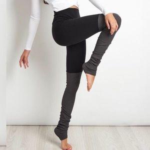 ALO Yoga Color Block Goddess Ruched Legging Tights